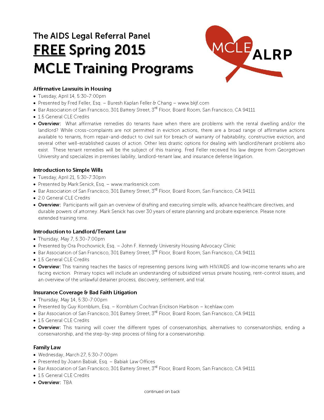 ALRP Free Spring 2015 MCLE Trainings Flyer_Page_1