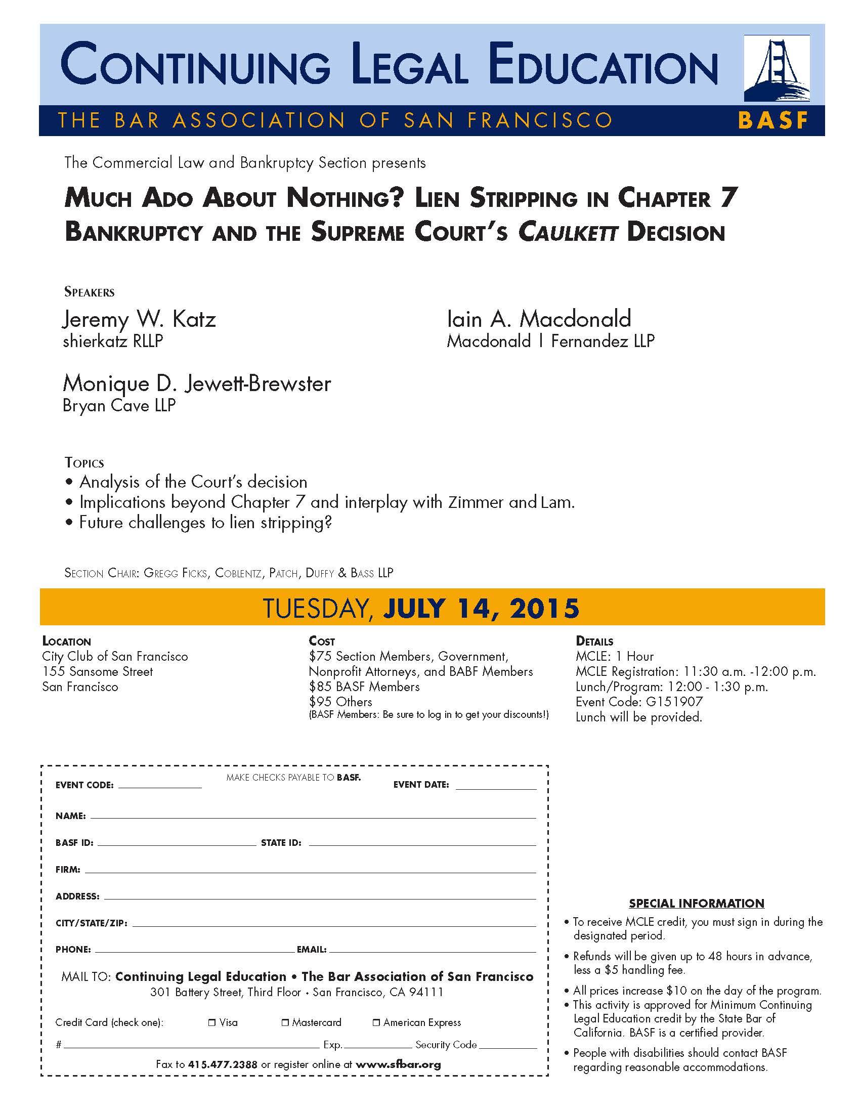 BASF - July 14 program flyer
