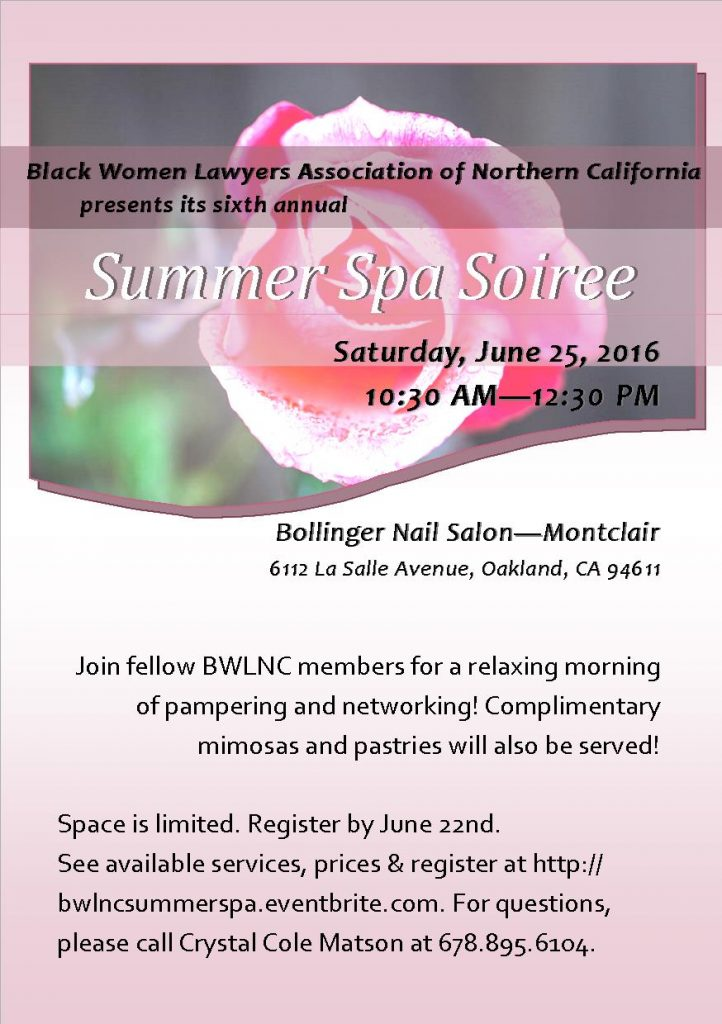 2016 Summer Spa Soiree